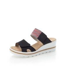 Rieker '67490' Ladies Wedge Sandals (Navy Multi)