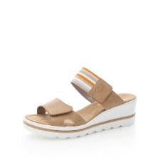 Rieker '67490' Ladies Wedge Sandals (Sand Multi)