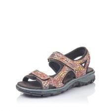 Rieker '68866' Ladies Sandals (Beige Multi/Black)