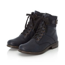 Rieker '71242' Ladies Ankle Boots (Navy)