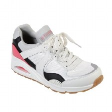 Skechers 'Street Uno - Super Fresh' Ladies Trainers (White Multi)