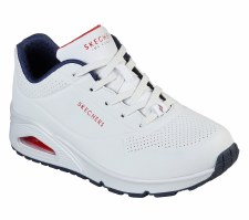 Skechers 'Street Uno - Stand On Air' Ladies Trainers (White/Navy)