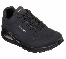 Skechers 'Street Uno - Stand On Air' Ladies Trainers (Black)