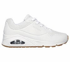Skechers 'Street Uno - Stand On Air' Ladies Trainers (White)