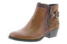 Rieker '75585' Ladies Ankle Boots (Tan)