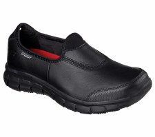 Skechers 'Work: Relaxed Fit - Sure Track' Ladies Shoes (Black)