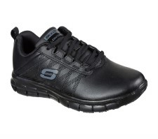 Skechers 'Work Relaxed Fit: Sure Track - Erath' Ladies Trainers (Black)