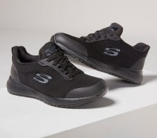 Skechers 'Work: Squad SR' Ladies Work Trainers (Black)