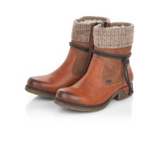 Rieker '79688' Ladies Ankle Boots (Tan)