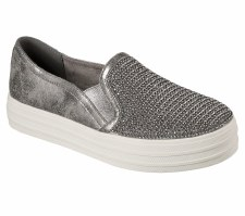 Skechers 'Double Up - Shiny Dancer' Ladies Shoes (Pewter)