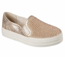 Skechers 'Double Up - Shiny Dancer' Ladies Shoes (Rose Gold)