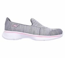 Skechers 'Go Walk 4' Girls Shoes (Grey)
