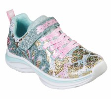 Skechers 'Double Dreams - Mermaid Music' Girls Shoes (Aqua/Pink)