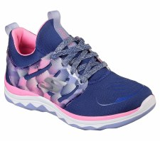 Skechers 'Diamond Runner' Girls Trainers (Navy/Pink)