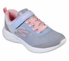 Skechers 'GOrun 600 - Dazzle Strides' Girls Trainers (Grey Multi)