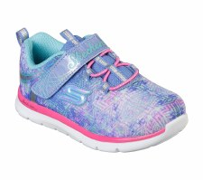 Skechers 'Skech-Lite Sparkle Cuties' Girls Trainers (Blue Multi)