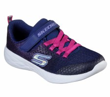 Skechers 'GOrun 600 - Sprinkle Splash' Girls Trainers (Navy/Pink)