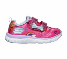 Skechers 'Jump Lites' Girls Shoes (Pink Multi)