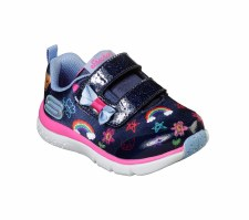 Skechers 'Jump Lites' Girls Shoes (Navy Multi)