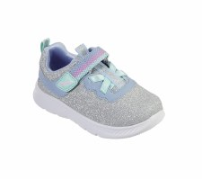 Skechers 'Comfy Flex 2.0 - Lucky Sparkles' Girls Trainers (Silver)