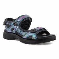 Ecco '822083' Ladies Sandals (Black Iridescent)