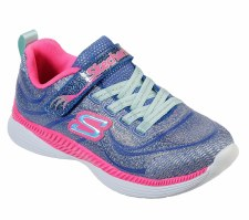 Skechers 'Move N' Groove' Girls Shoes (Blue/Pink)