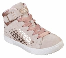 Skechers 'Shoutouts 2.0 - Suede Chic' Girls Shoes (Natural)