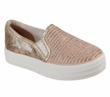Skechers 'Double Up - Shiny Dancer' Girls Shoes (Rose Gold)