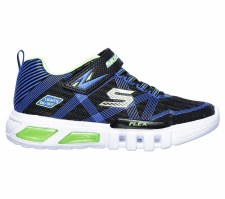 Skechers 'S Lights: Flex-Glow' Boys Shoes (Blue/Lime)