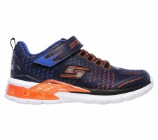 Skechers 'S Lights: Erupters II - Lava Arc' Boys Trainers (Navy/Orange)