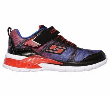 Skechers 'S Lights: Erupters II - Lava Waves' Boys Trainers (Black/Blue)