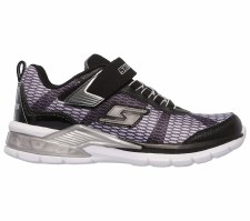 Skechers 'S Lights II - Lava Waves' Boys Trainers (Black/Silver)