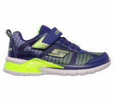 Skechers 'S Lights: Erupters II - Lava Waves' Boys Trainers (Navy/Lime)
