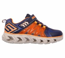Skechers 'S Lights: Hypno-Flash 2.0' Boys Trainers (Navy/Orange)