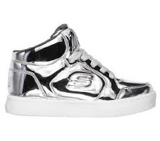 Skechers 'S Lights: Energy Lights - Eliptic' Girls Boots (Silver)