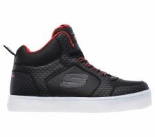 Skechers 'S Lights: Energy Lights - Tarvos' Boys Boots (Black/Red)