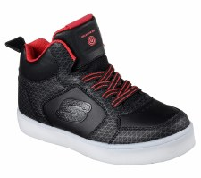 Skechers 'S Lights: Energy Lights - Tarvos' Boys Boots (Black/Red)