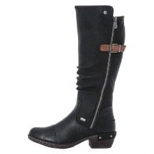 Rieker '93654' Ladies Long Boots (Black)