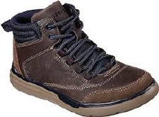 Skechers 'Maddox - Street Heights' Boys Boots (Brown)