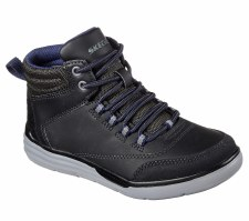Skechers 'Maddox - Street Heights' Boys Boots (Black)