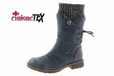 Rieker '94750' Ladies Long Boots (Navy)