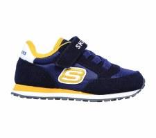 Skechers 'Strap Retro' Boys Shoes (Navy/Gold)