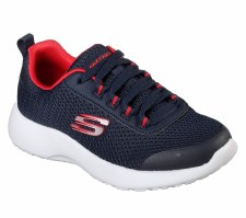 Skechers 'Dynamight - Turbo Dash' Boys Trainers (Navy/Red)