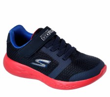 Skechers 'GOrun 600' Boys Trainers (Navy/Red)