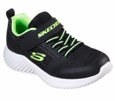 Skechers 'Bounder - Zallow' Boys Trainers (Black/Lime)