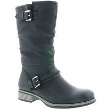 Rieker '98860' Ladies Calf Length Boots (Black)