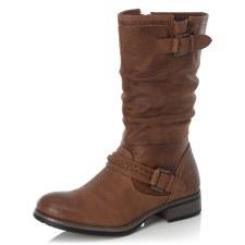Rieker '98860' Ladies Calf Length Boots (Tan)