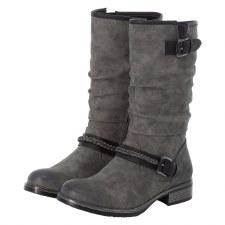 Rieker '98860' Ladies Calf Length Boots (Grey)