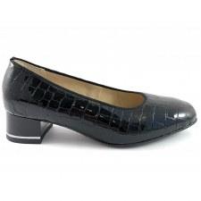 Ara '11838' Ladies Heels (Black Croc)
