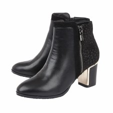 Lotus 'Athena' Ladies Ankle Boots (Black)